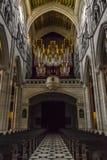 Interno della cattedrale di Santa Maria la Real de la Almudena, pazza Fotografie Stock