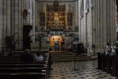 Interno della cattedrale di Santa Maria la Real de la Almudena, pazza Immagine Stock Libera da Diritti