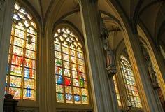 Interno della cattedrale di St John a Hertogenbosch, Netherland Immagine Stock