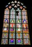 Interno della cattedrale di St John a Hertogenbosch, Netherland Fotografia Stock