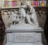 Interno della cattedrale di St Michael e della st Gudula, Bruxelles, Belgio Fotografie Stock Libere da Diritti