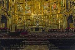 Interno della cattedrale di Toledo Immagini Stock