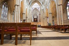 Interno della cattedrale di York Minster, York Fotografia Stock