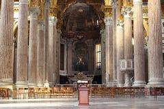 Interno della cattedrale italiana, Genova Fotografia Stock Libera da Diritti