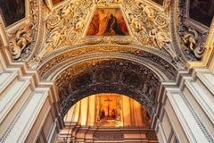 Interno della cattedrale a Salisburgo, Austria Fotografia Stock Libera da Diritti