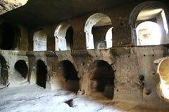 Interno della caverna di Cappadocia Immagini Stock Libere da Diritti