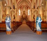 Interno della chiesa Fotografia Stock