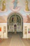 Interno della chiesa alla museo-proprietà di Ivan Turgenev Fotografia Stock