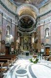 Interno della chiesa cattolica chiamata Fotografia Stock