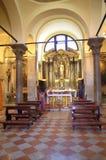 Interno della chiesa cattolica, Venezia Immagine Stock Libera da Diritti