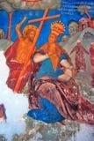 Interno della chiesa con gli affreschi del XVII secolo originali Immagini Stock