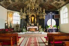 Interno della chiesa del cuore sacro di Gesù in Stegna, Polonia Immagine Stock Libera da Diritti