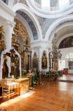 Interno della chiesa del fronte santo nel villaggio Mlevo Fotografia Stock Libera da Diritti