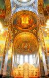 Interno della chiesa del salvatore su sangue rovesciato in san P Fotografia Stock Libera da Diritti