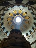 Interno della chiesa del sepolcro santo in Città Vecchia di Gerusalemme, Israele fotografia stock