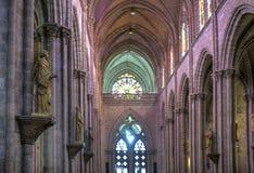 Interno della chiesa della basilica di Quito Fotografie Stock