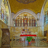 Interno della chiesa della flagellazione Fotografie Stock Libere da Diritti