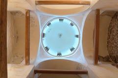 Interno della chiesa della trasfigurazione del salvatore su Kovalevo in Veliky Novgorod, Russia Immagine Stock Libera da Diritti