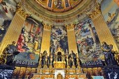 Interno della chiesa di Basilica de San Francisco el Grande a Madrid Immagini Stock Libere da Diritti