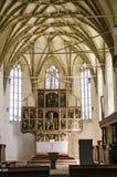 Interno della chiesa di Biertan Fotografie Stock Libere da Diritti
