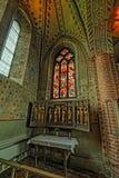 Interno della chiesa di Mary's del san in Sigtuna Fotografie Stock