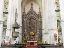 Interno della chiesa di Minorite a Vienna, Austria Fotografia Stock Libera da Diritti