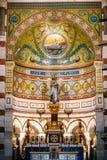 Interno della chiesa di Notre Dame de la Garde a Marsiglia, Francia Immagine Stock