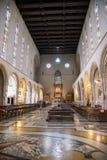 Interno della chiesa di Santa Chiara a Napoli Fotografie Stock Libere da Diritti