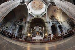 Interno della chiesa di Santa Maria del Popolo, Roma Fotografie Stock Libere da Diritti
