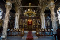 Interno della chiesa di Santi Cirillo e Metodio Immagini Stock Libere da Diritti
