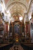 Interno della chiesa di St Ignatius a Praga Immagine Stock Libera da Diritti