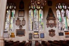 Interno della chiesa di St Margaret, abbazia di Westminster Fotografie Stock Libere da Diritti