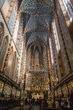 Interno della chiesa di St Mary a Cracovia Fotografie Stock