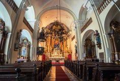 Interno della chiesa di trinità santa a Graz, Austria Immagini Stock Libere da Diritti