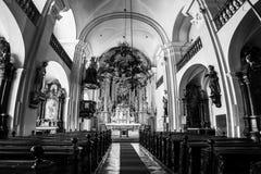Interno della chiesa di trinità santa a Graz, Austria Fotografia Stock