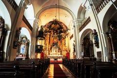 Interno della chiesa di trinità santa a Graz, Austria Fotografie Stock Libere da Diritti