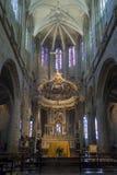 Interno della chiesa in Dinan, Bretagna, Francia fotografie stock libere da diritti