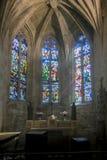 Interno della chiesa in Dinan, Bretagna, Francia fotografia stock libera da diritti