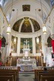 Interno della chiesa in NYC Fotografie Stock