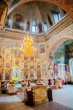 Interno della chiesa ortodossa Immagine Stock