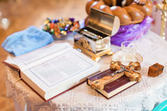 Interno della chiesa ortodossa bella Fotografia Stock