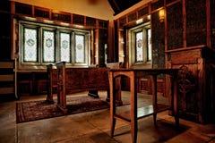 Interno della chiesa rustica Fotografia Stock Libera da Diritti