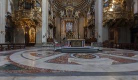 Interno della chiesa Santa Maria in Vallicella Fotografia Stock