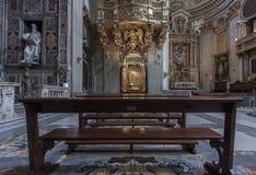 Interno della chiesa Santa Maria in Vallicella Fotografie Stock