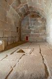 Interno della cisterna del castello di Feira Immagini Stock Libere da Diritti