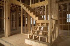 Interno della costruzione della nuova casa Fotografie Stock Libere da Diritti