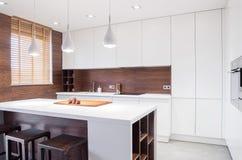 Interno della cucina di progettazione moderna Immagine Stock Libera da Diritti