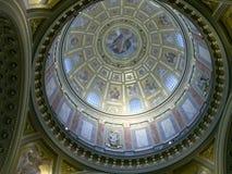 Interno della cupola alla basilica di St Stephen, Budapest Fotografia Stock