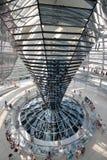 Interno della cupola di Reichstag Fotografie Stock Libere da Diritti