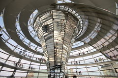 Interno della cupola di Reichstag Immagini Stock Libere da Diritti
